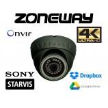 8MPx 4K H265 IP STARVIS dome kamera EXIR IR20m, POE, SD karta, ONVIF, WDR, IK10, Dropbox, GOOGLE (ZONEWAY NC940)