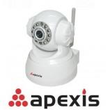 Vnitřní IP kamera Apexis APM-J011-WS-IRC, Pan/Tilt, Bezdrátová Wifi, IR cut bílá - doprodej