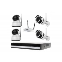 Kamerový WiFi IP set, Zoneway 2xNC850 + 2x NC824 2MPx + NVR2404 + WiFi router