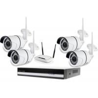 Kamerový WiFi IP set, 4x Zoneway NC854 2MPx + NVR6004 + WiFi router