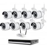 Kamerový WiFi IP set, 8x Zoneway NC854 2MPx + NVR 6109F + WiFi router